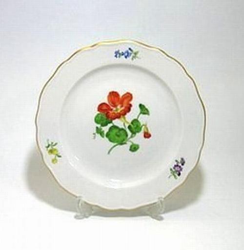 マイセン 【様式的な花(ドイツブルメン) 030110】 18cmプレート・501 (NO.18)