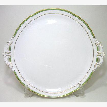 リチャードジノリ・ベッキオ・ジェンマ(翡翠) 31.5cmケーキトレイ