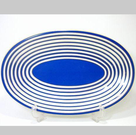 リチャードジノリ・アマデウスの唄 ブルー オーバルケーキプラター