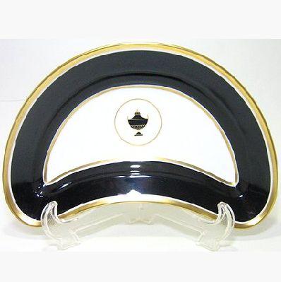 リチャードジノリ・インペロブラック 23cmクレセント