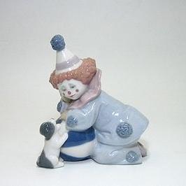 【人気商品!】 リヤドロ 5278・真正ロゴ 5278 仔犬とボールを持つピエロ, ピアノ楽譜専門店 CRESCENDO:9b298477 --- fabricadecultura.org.br