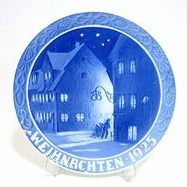 ロイヤルコペンハーゲン・クリスマスプレート ドイツ版 1925年 クリスチャンハウンからの風景