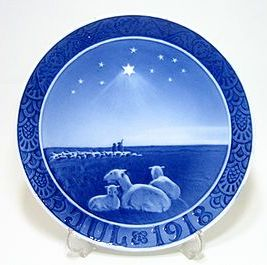 ロイヤルコペンハーゲン・クリスマスプレート 1918年 羊飼い