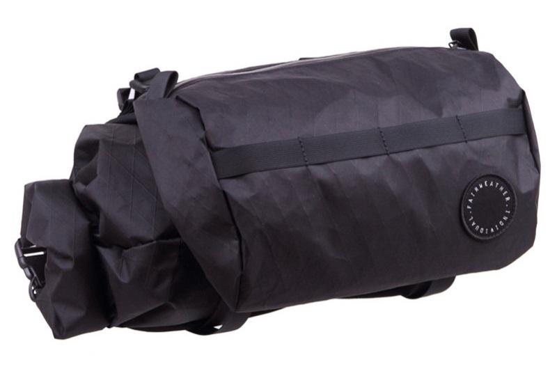 FAIRWEATHER(フェアウェザー) handlebar bag + (ハンドルバーバッグプラス) X-PAC BLACK(ブラック)【丸太町店(スポーツ専門)展示中】