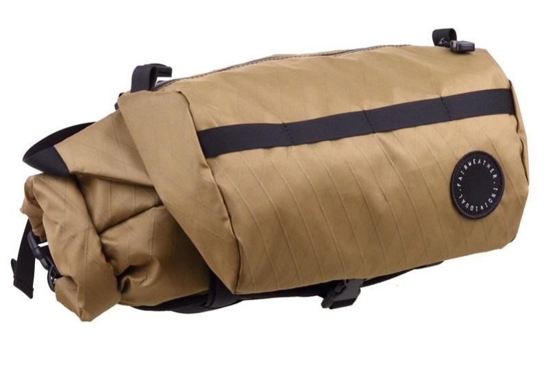 FAIRWEATHER(フェアウェザー) handlebar bag + (ハンドルバーバッグプラス) X-PAC COYOTE(コヨーテ)【丸太町店(スポーツ専門)展示中】