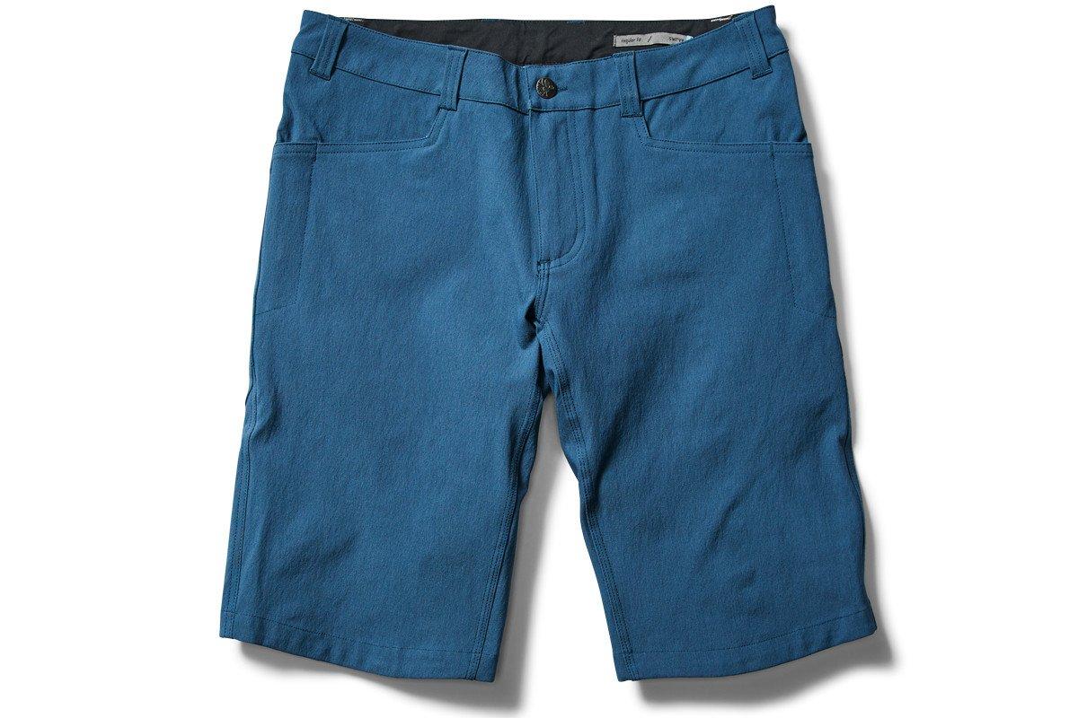 【新品】【送料無料】SWRVE(スワーブ) DURABLE COTTON REGURAR SHORTS(デュラブルコットンレギュラーショーツ)BLUE(ブルー)【丸太町店(スポーツ専門)展示中】