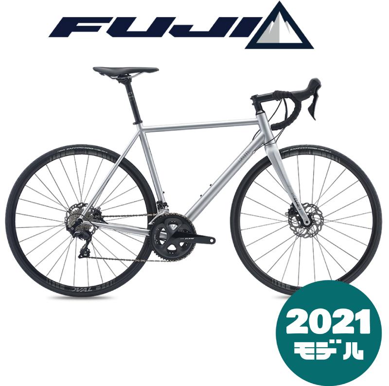 【一部地域送料無料】100台限定!!モダンスチールディスクロードバイク【2021年モデル】FUJI(フジ) FOREAL(フォレアル)Matte Silver (マットシルバー)【プロの整備士による整備組付済】ロードバイク
