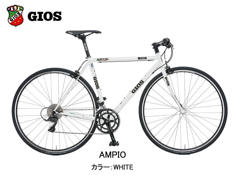 【2020年モデル】GIOS(ジオス) AMPIO(アンピーオ)カラー:WHITE【プロの整備士による整備組付済】ロードバイク【今出川京大前店別館】
