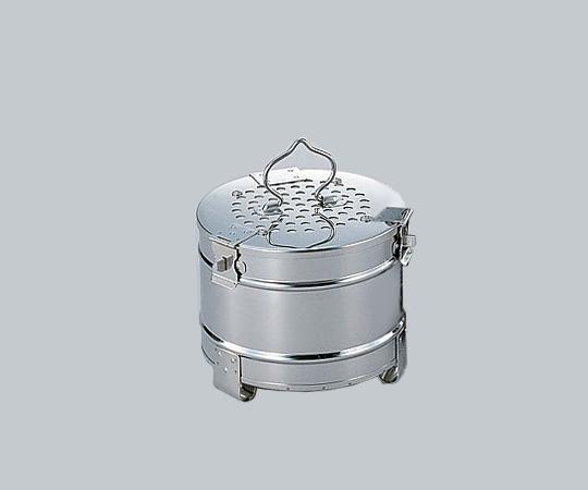 松本製器 フィルター式 ガーゼ缶 丸型 180 (0-3116-01)