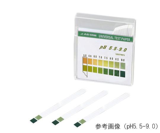 ネコポス送料無料 アズワン pH試験紙 pH5.5-9.0 入手困難 低廉 100枚入 スティックタイプ 1-1267-05 メール便
