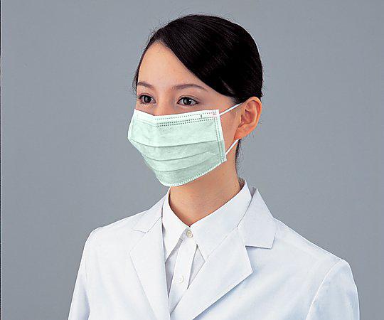 【まとめ買い特価】 サージカルマスク 40箱入 グリーン SMEG (8-7842-24)