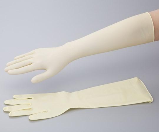 ラテックスロング手袋 スーパーロング 50枚入 未滅菌 お得なキャンペーンを実施中 M No.336 新品■送料無料■ 0-6111-05