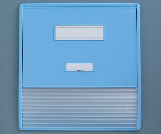 リヒトラブ LIHITLAB カードインデックス A3/A4(縦2面)10名用 HC113C ブルー (0-7508-11)