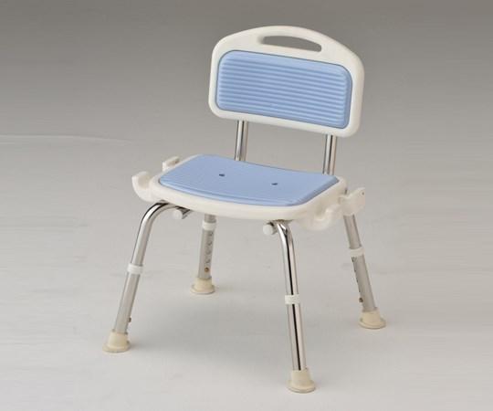 アズワン 業務用シャワー椅子 ステンレスフレーム 肘無し ブルー (8-2332-03)