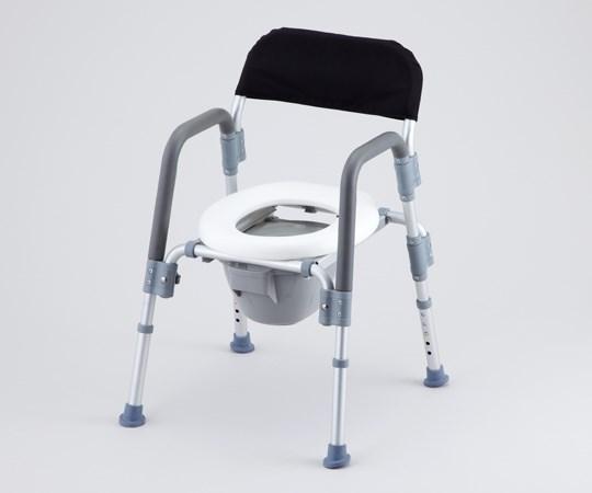 アズワン コンフォートトイレ椅子 (折りたたみ式) 背付き HT2098 (8-4957-02)
