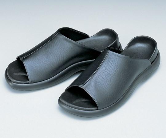 アズワン ドクターフィットサンダル ソフトラバー 黒 L(26.0~26.5cm) 29N (8-7544-02)