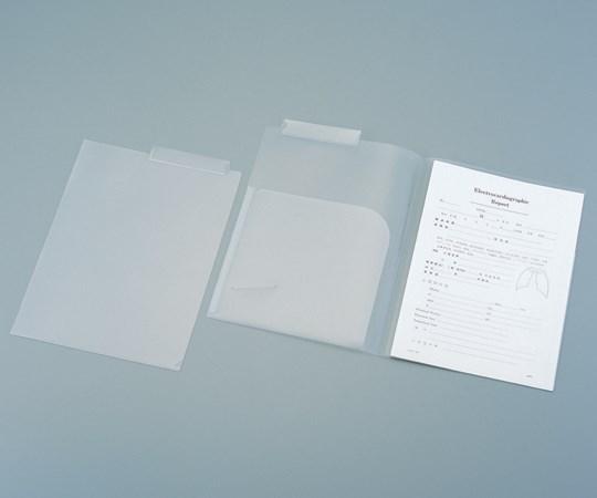 アズワン カルテフォルダーKHW-50 50枚×4 IDカード用スリット付き 見出し紙付き (8-8750-12)