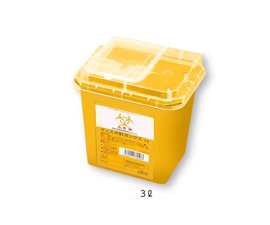 アズワン ナビス ディスポ針ボックス 黄色3L 48個入 ケース販売 (8-7221-22)