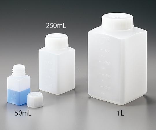 【1ケース】 アズワン アイボーイ PE角瓶 500ml 50本入 目盛付き (5-003-54)