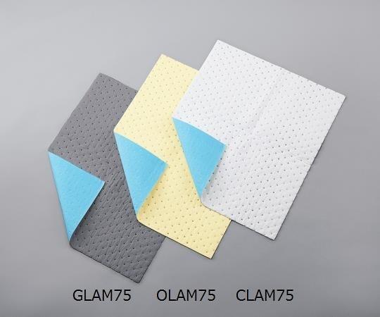 アズワン ラミネート液体吸収マット (水・油・溶剤 用) GLAM75 (3-6607-01)