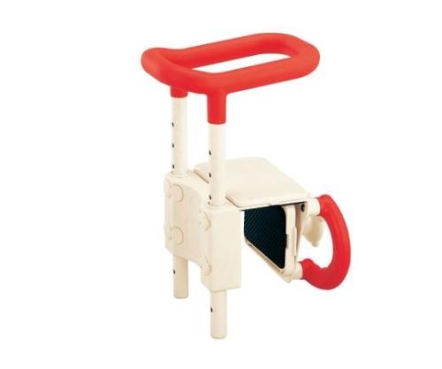 アロン化成 高さ調節付浴槽手すり(安寿) レッド UST-130 (0-3059-21)