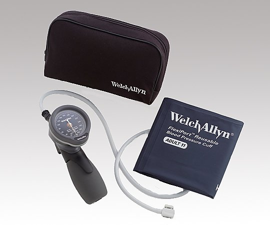 ウェルチ・アレン アネロイド血圧計 デュラショック・ハンド型 TR-1型 小児用(中)カフ付き 5098-29 (8-7546-02)