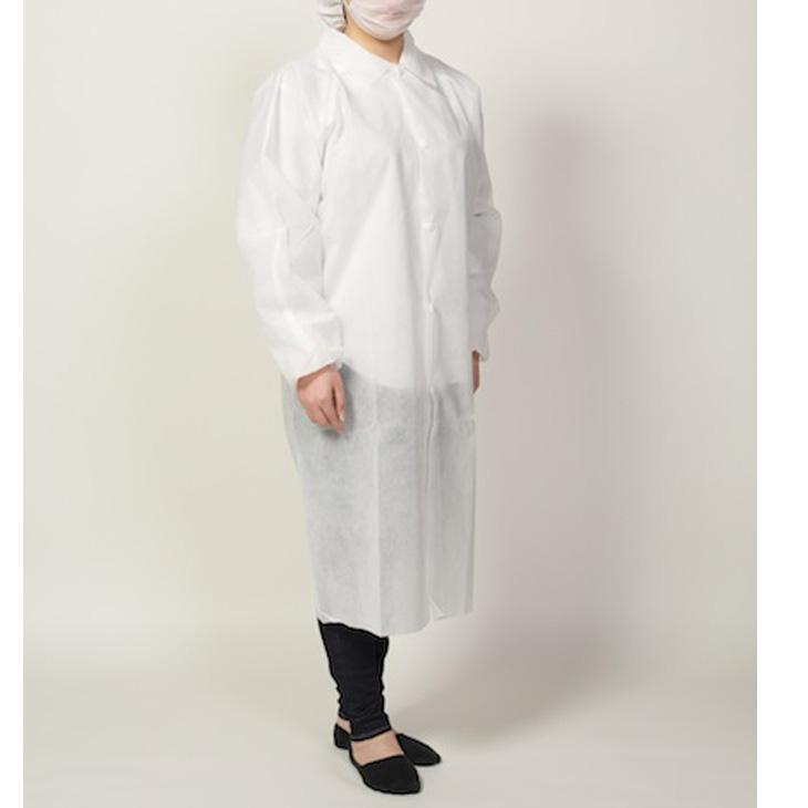 東京メディカル オールタイム 不織布白衣 LLサイズ 50枚