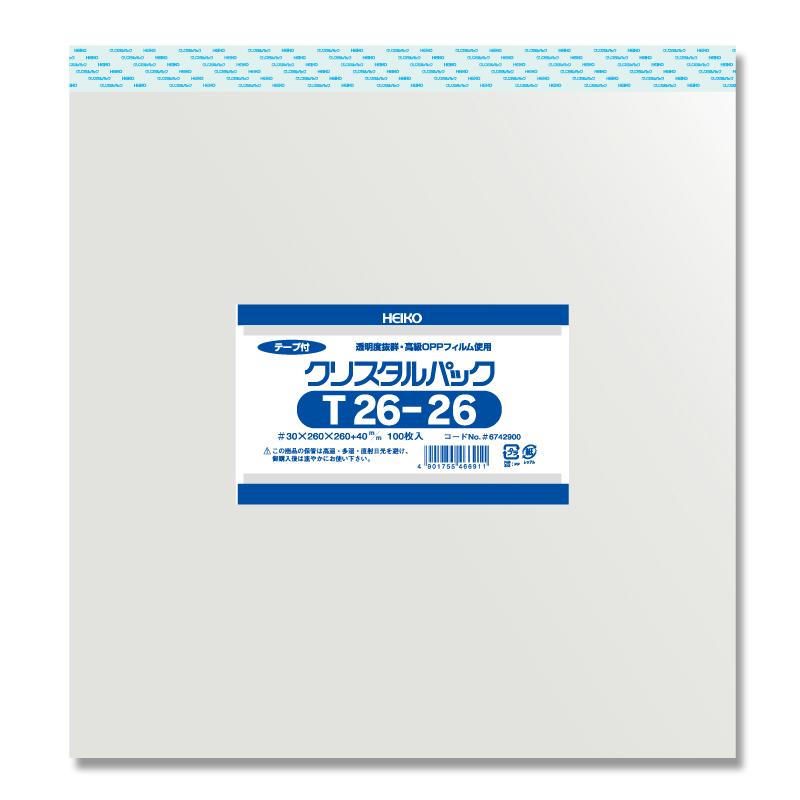 【10束セット】 HEIKO クリスタルパックT 26-26 1000枚(100枚入×10) (006742900)
