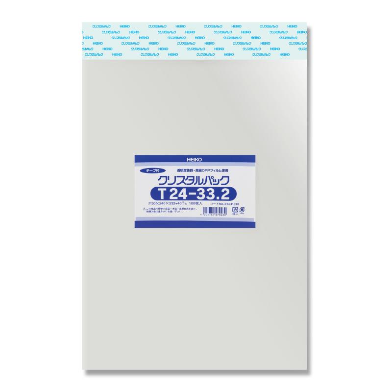 【10束セット】 HEIKO クリスタルパックT 24-33.2 1000枚(100枚入×10)(006741010)