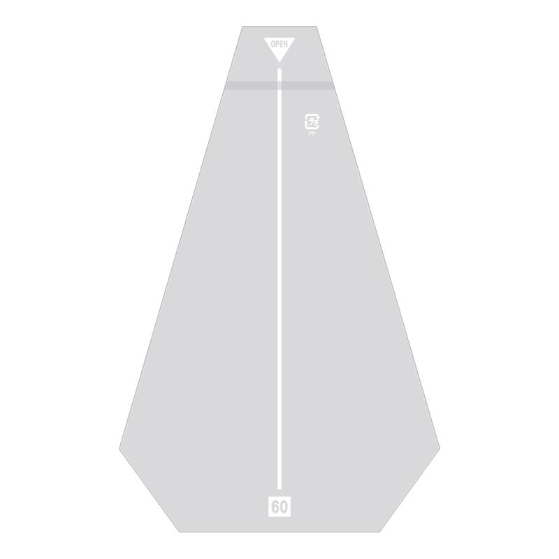 【10束セット】 HEIKO サンドイッチ袋 60 イージーカット ライン白 防曇 1000枚(100枚入×10)(006770600)