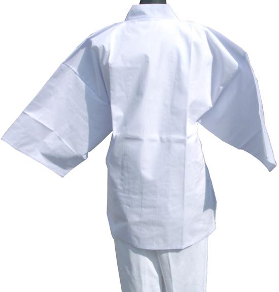 【送料無料】大型のポケットとファスナーがついた着用白衣です。 着用白衣/無地 袖付き