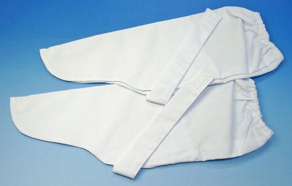 本物 巡拝用白衣によく合います お遍路さん用 手甲 白 モデル着用 注目アイテム