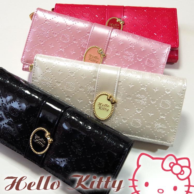 cf4385712f4a Advance web shop  New HELLO KITTY long wallet   shiny enamel of cute ...