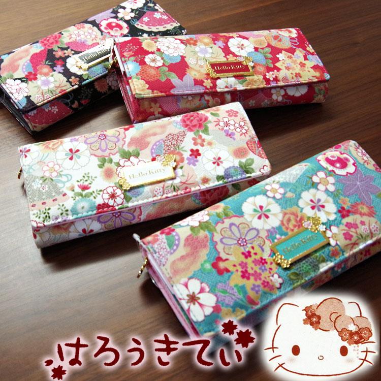 561ae91df7c5 Advance web shop  New HELLO KITTY long wallet   Japanese pattern ...