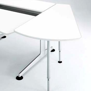 オカムラ クルーズ 連結テーブル 30°サイド型 基本ユニットBタイプ用 MY12EB MJ64