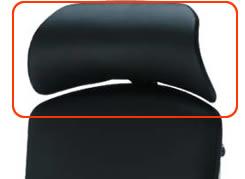 不要チェア無料引取り中 オカムラ コンテッサ用大型固定ヘッドレスト(レザー仕様) CM502Y [オフィスチェア]