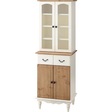 カップボード 食器棚 キッチンボード ホワイト アンティーク風 ナチュラル 人気