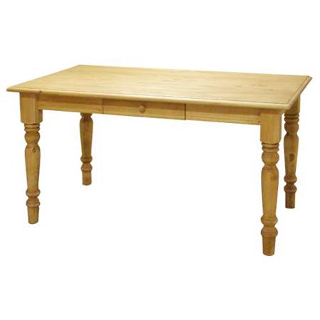 カントリー家具 135cm ダイニングテーブル 引き出し2杯 アトリエシリーズ 人気