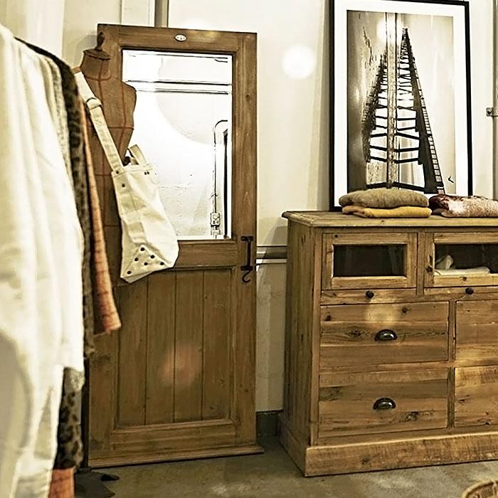 スタンドミラー アンティーク ドア風 木製 姿見 鏡 全身鏡 ミラー ブラウン 北欧 ビンテージ フレンチカントリー シャビーテイスト 人気