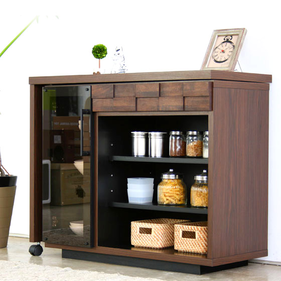 GART GALT COLK KITCHEN DESK ガルト コルク キッチンデスク キッチン収納 サイドボード 収納 食器棚 木製 電話台 FAX台 ブラウン 人気