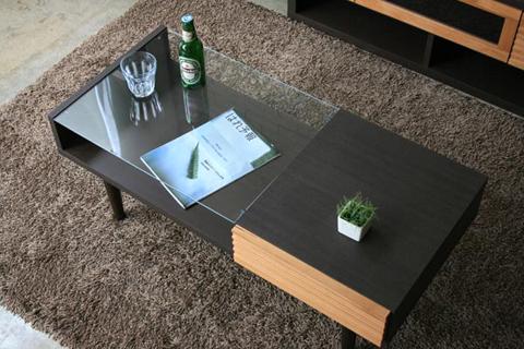 【完成品お届け】GART FE 100 リビングボード リビングテーブル 木製 テーブル センターテーブル ローテーブル ガラステーブル 北欧 人気