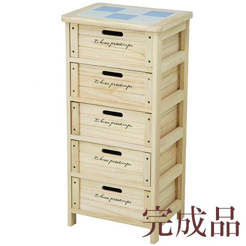 5段キッチン収納 野菜ストッカー キッチン収納に最適!レンジ台としても(桐製) 桐製マルチストッカー 木製5段ボックス HF05-004(N) 68095 人気