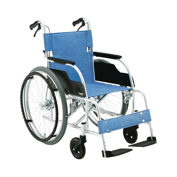 (代引不可)松永製作所 アルミ製自走式車いす ECO-201B(306101) 介護用品【532P16Jul16】