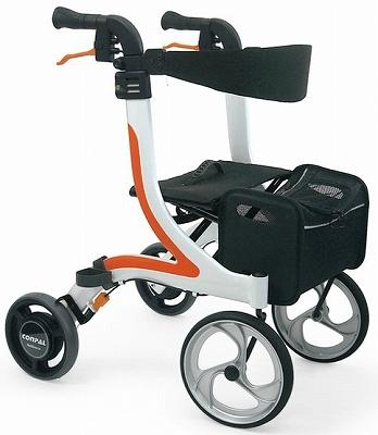 【メーカー欠品中、納期未定】(代引き不可)カワムラサイクル 四輪歩行器 KW41 (屋内外両用歩行器 抑速機能付き後輪採用)介護用品