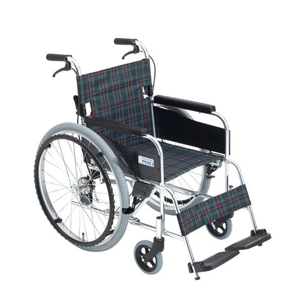 【当店は土日はポイント+5倍!!】(代引き不可) アルミ自走車いす M-1 シリーズ MPN-40JD ミキ (スタンダード シンプル) 介護用品