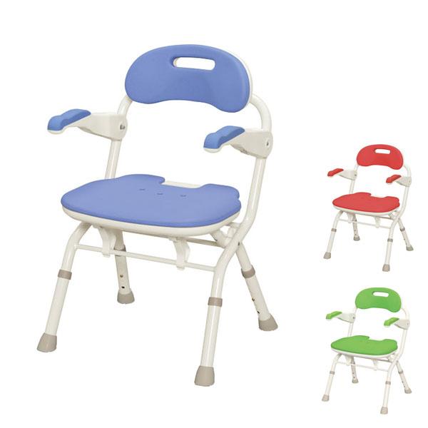 (当店は土日はポイント+5倍!!)アロン化成 安寿 折りたたみシャワーベンチ FSフィット 536-056 536-057 536-058 (介護用 風呂椅子 介護 浴室 椅子 チェア 折りたたみ 肘掛け椅子) 介護用品