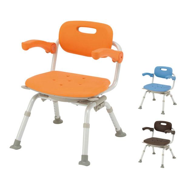 (当店は土・日曜日はポイント+5倍!!)パナソニック シャワーチェア [ユクリア] ミドルSP回転おりたたみN PN-L41221 (介護用 風呂椅子 お 風呂 椅子 カビ にくい チェア 折りたたみ 浴室 椅子 肘掛け椅子 回転椅子) 介護用品