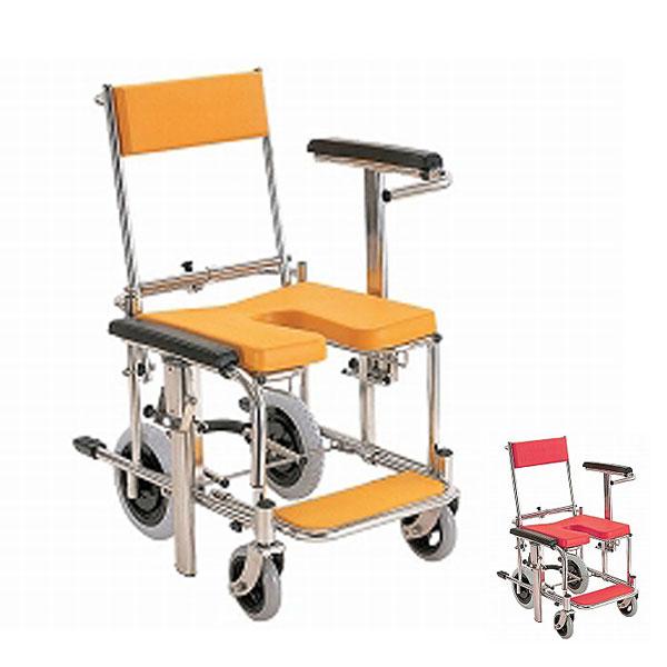 【当店は土日はポイント+5倍!!】(代引き不可)入浴・シャワー用車いす 標準 KS3 カワムラサイクル(お風呂 椅子 浴用椅子 シャワーキャリー 背付き 介護 椅子) 介護用品