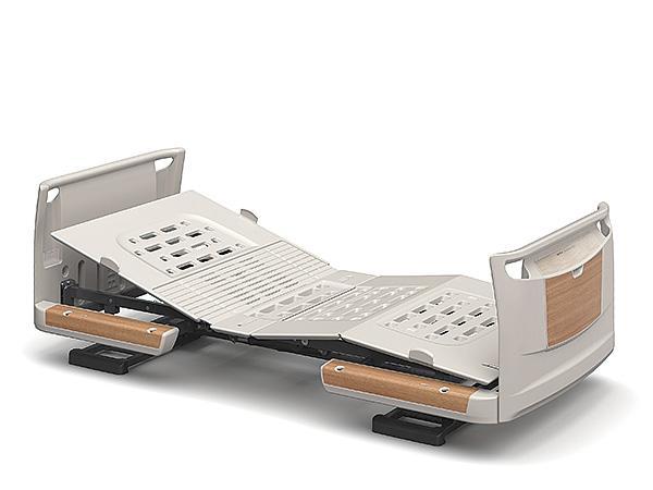 (代引き不可)楽匠Z 1モーション 樹脂ボード 木目調 スマートハンドル付 / KQ-7101S 83cm幅 ミニ パラマウントベッド介護用品