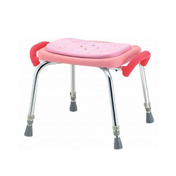 (お買い物マラソン限定 ポイント5倍!!)(代引き不可) 松永製作所 シャワーいす 背なし ローグリップ付 SC-12 (介護用 風呂椅子 浴室 椅子 背もたれなし 椅子 グリップ) 介護用品
